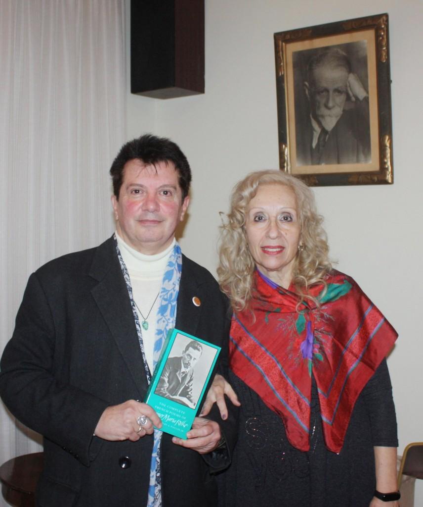 Οι ομιλητές Κώστας Ευαγγελάτος και η δρ. Σοφία Μωραίτη